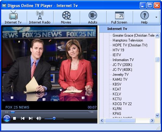 Digeus Online TV Player screenshot